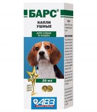 Барс капли ушные для собак 20мл