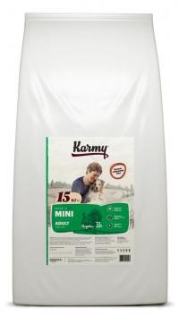 Karmy Mini Adult  корм для собак мелких пород старше 1 года Индейка 15кг