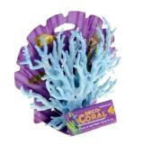 Декор Коралл голубой/белый 12 см