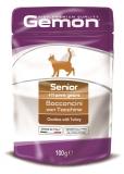 Gemon Cat Pouch паучи для пожилых кошек кусочки индейки 100г