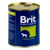Brit Beef&Heart Говядина и сердце 850 гр