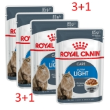 Акция 3+1 Royal Canin Ultra Light (соус), 85гр