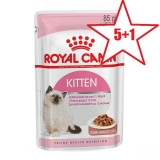 Акция 5+1 Royal Canin Kitten Instinctive (в соусе), 85гр