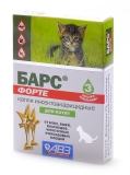 Барс форте капли инсекто-акарицидные для котят, 1 амп.