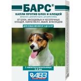 Барс Капли от блох и клещей для собак 10-20кг 1амп