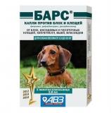 Барс Капли от блох и клещей для собак 2-10кг 1амп