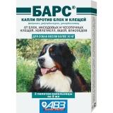 Барс Капли от блох и клещей для собак более 30кг 1амп