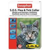 Beaphar Ошейник от блох и клещей для кошек на 8мес (SOS)