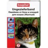 Ошейник Beaphar Diaz от блох для кошек желтый