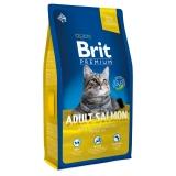 Brit premium cat adult salmon 1,5кг