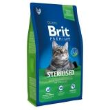 Brit Premium Cat Sterilised 8 кг