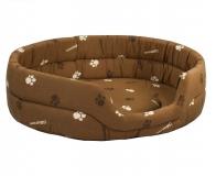 Лежак овальный стеганый коричневый Дарэлл