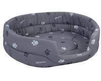 Лежак овальный стеганый серый Дарэлл