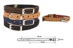 Ошейник кожаный Софт Дарэлл. Модель 410001