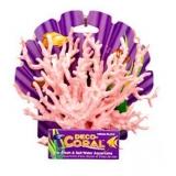 Декор Коралл розовый/белый 18 см