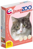 Витамины Доктор Zoo для кошек со вкусом ветчины 90таб.