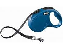 Рулетка Flexi Classic M-L лента 5м синяя