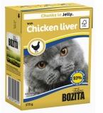 Bozita Мясные кусочки в желе с куриной печенью 370гр