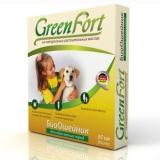 GreenFort Био Ошейник от блох и клещей для собак мелких пород 35см