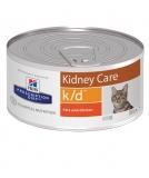 Hill's Prescription Diet k/d Kidney Care при хронической болезни почек, для кошек с курицей 156 г