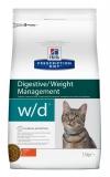 Hill's Prescription Diet w/d Digestive сухой диетический корм для кошек при поддержании веса и сахарном диабете, с курицей 1,5 кг