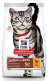Hill's Science Plan Hairball Indoor cухой корм для выведения шерсти из желудка у домашних кошек, с курицей, 1,5кг