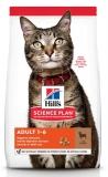 Hill's Science Plan Optimal Care сухой корм для взрослых кошек для поддержания жизненной энергии и иммунитета, с ягненком, 300 г