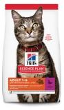 Hill's Science Plan Optimal Care сухой корм для взрослых кошек для поддержания жизненной энергии и иммунитета, с уткой, 300 г