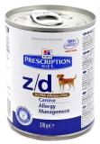 Hill's Диета z/d лечение пищевой аллергии 370 гр