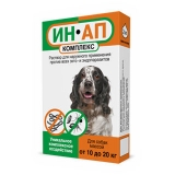 Ин-Ап Капли от блох и клещей для собак 10-20 кг