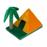 Домик-когтеточка Пирамидка с пальмой