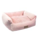 """Лежанка прямоугольная """"Лилия"""", розовая, 520*450*170мм"""