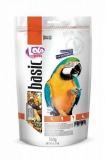 LOLO PETS BASIC корм для крупных попугаев полнорационный дойпак 350г