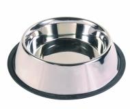 Миска металлическая на резине 0,7л.