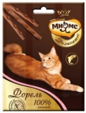 Мнямс Деликатес лакомые палочки 9см для кошек с форелью 3*4г