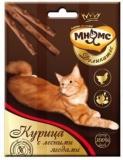 Мнямс Деликатес лакомые палочки 9см для кошек с курицей и лесными ягодами 3*4г