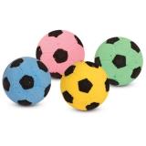 Мяч футбольный одноцветный для кошек