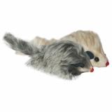 Мышь меховая пищащая погремушка