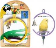 Игрушка для птиц Penn-Plax качели со счетами и колокольчиком