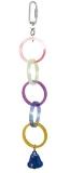 Игрушка для птиц Triol олимпийские кольца с колокольчиком