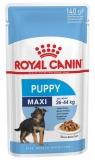 Royal Canin Maxi Puppy для щенков крупных пород в соусе 140г