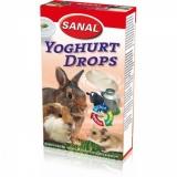 Дропсы йогуртовые Sanal для грызунов 45гр