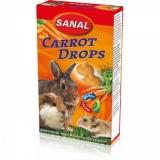 Дропсы морковные Sanal для грызунов 45гр