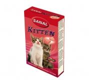 Витамины Sanal Kitten для котят с лососем и таурином 40 таб.