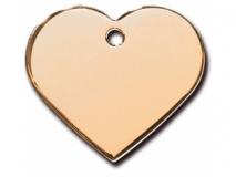 Адрессник Сердце большое золотое