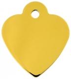 Адрессник Сердце малое золотое