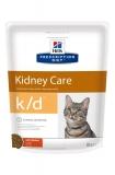 Hill's Prescription Diet k/d Kidney Care сухой диетический корм для кошек при профилактике заболеваний почек, с курицей 400 г