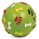 Игрушка резиновая Мяч погремушка лапки 7см Triol