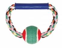 Веревка цветная с мячом 16,5см Triol
