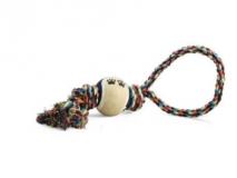 Веревка цветная с мячом 34см Triol
